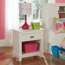 Bailey Night Stand - White