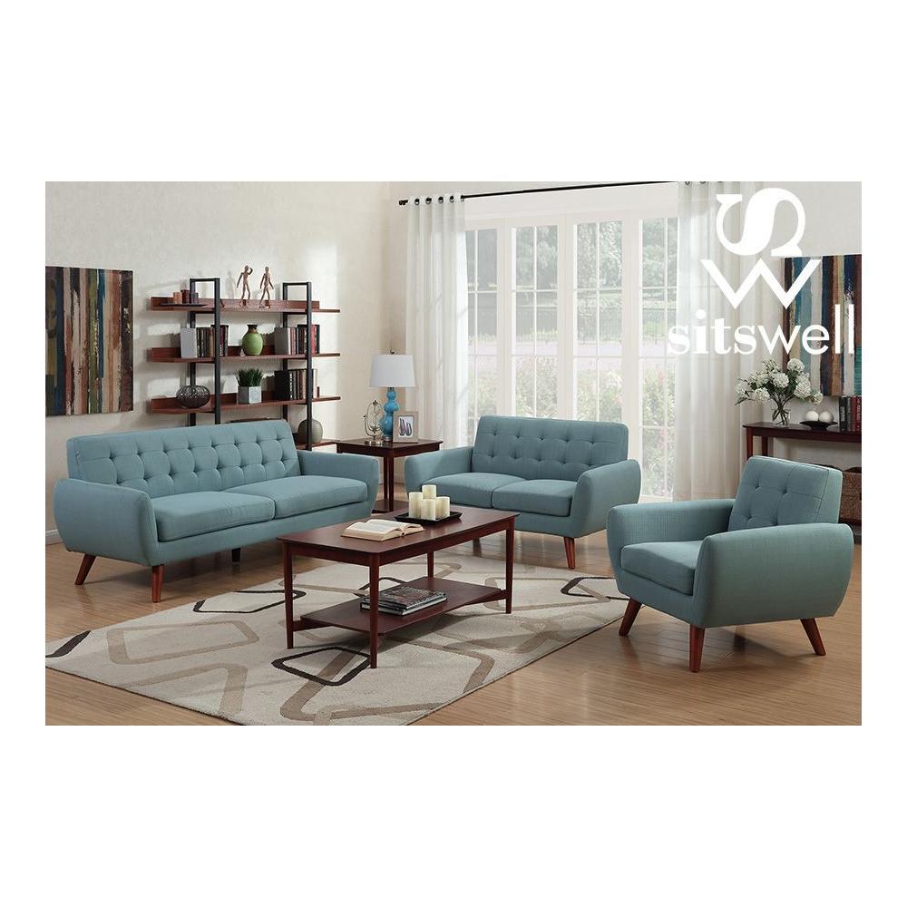 Daphne Teal Sofa, Loveseat & Chair, SWU6918