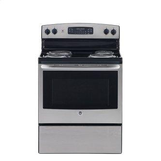 """GE 30"""" Electric Freestanding Range with Storage Drawer Stainless Steel - JCB530SMSS"""