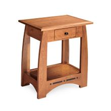 See Details - Aspen Nightstand Table with Drawer and Inlay