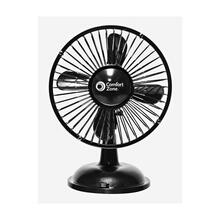 CZ5USBBK 6-inch Oscillating USB - Battery Desk Fan, Black