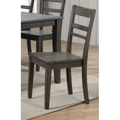 Slat Back Dining Chair - Shade of Gray (Set of 2)