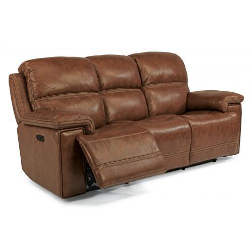 Flexsteel - Fenwick Power Reclining Sofa with Power Headrests - 204-72 Leather Vinyl