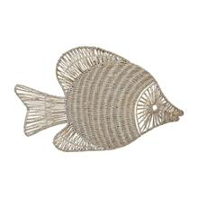 Wicker Fish Wall D cor