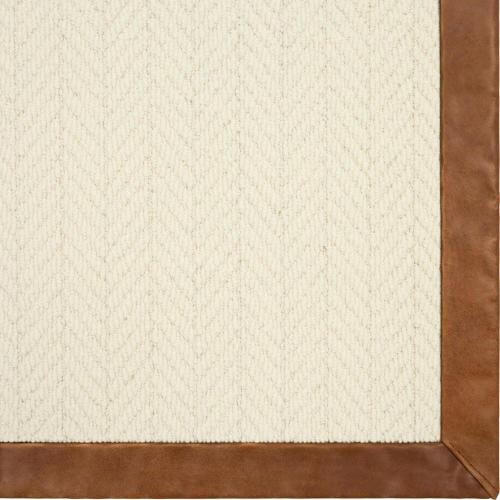 Alderney Whisper 6'x9' / Leather Border