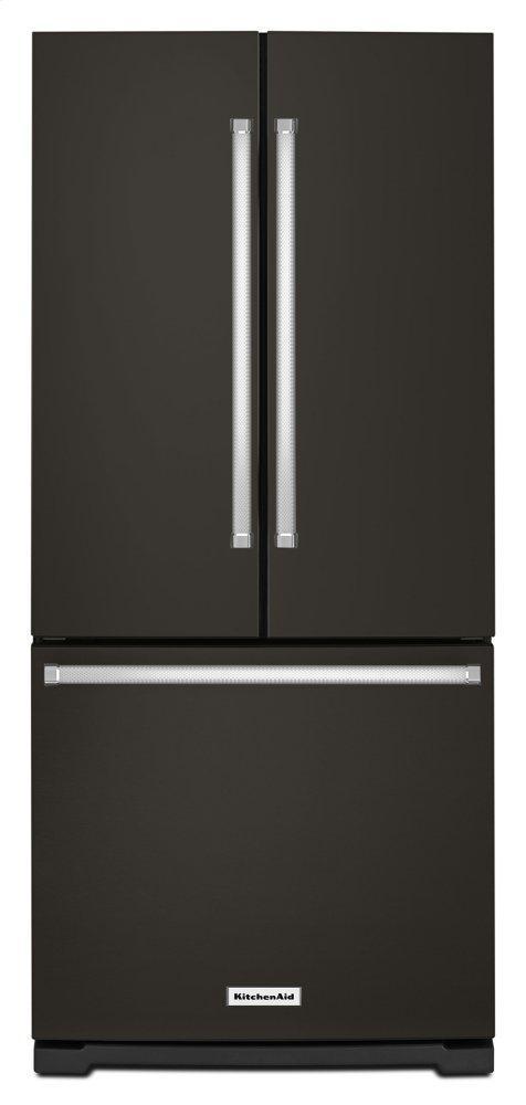 Kitchenaid20 Cu. Ft. 30-Inch Width Standard Depth French Door Refrigerator With Interior Dispense - Black Stainless Steel With Printshield™ Finish