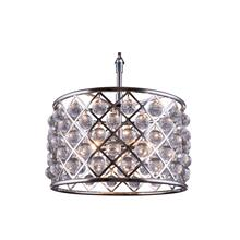 Madison 6 light Polished nickel Pendant Clear Royal Cut Crystal