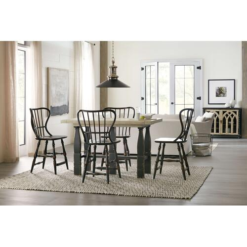 Ciao Bella Spindle Back Counter Stool-Black