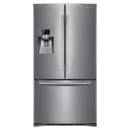 23 cu. ft. French Door Refrigerator (This is a Stock Photo, actual unit (s) appearance may contain cosmetic blemishes. Please call store if you would like actual pictures). REBATE NOT VALID with this item.  ISI 37600 B
