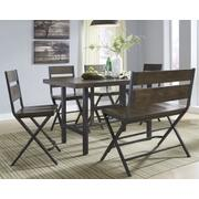 Counter Height Dining Table and 4 Barstools and Bench Product Image