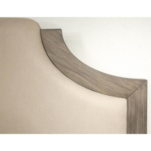 Vogue - King/california King Upholstered Headboard - Gray Wash Finish