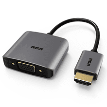 HDMI to VGA Adapter with Micro USB and Audio Port