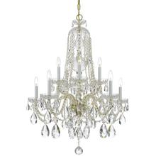 See Details - Traditional Crystal 10 Light Spectra Crystal Brass Chandelier