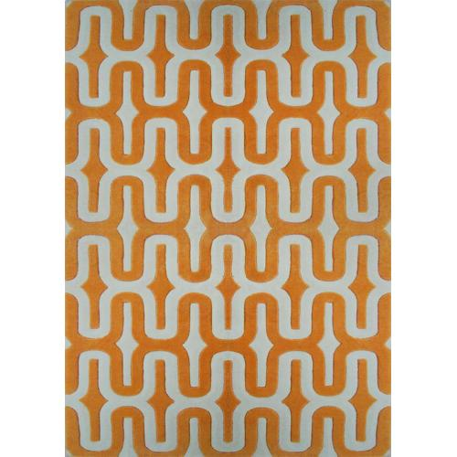 Durable Hand Tufted Transition TF36 Area Rug by Rug Factory Plus - 5' x 7' / Orange
