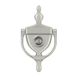Deltana - Door Knocker-Viewer - Brushed Nickel