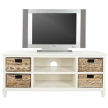 Rooney Entertainment Unit - Distressed White