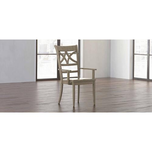 Bassett Furniture - Merrill Oak Arm Chair