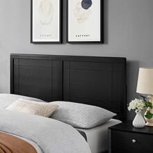 Archie Queen Wood Headboard in Black