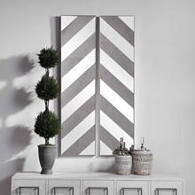 See Details - Jeannie Mirrored Wall Decor, S/2