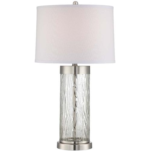 Table Lamp W/led Night, Ps/clear/fabric, E27 Cfl 23w/led 2w