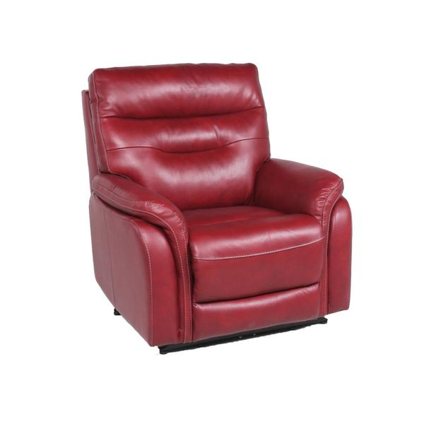 Fortuna Dual-Power Leather Recliner Chair, Wine