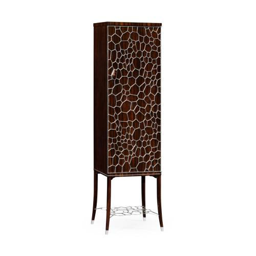 Soho drink cabinet with brass inlay