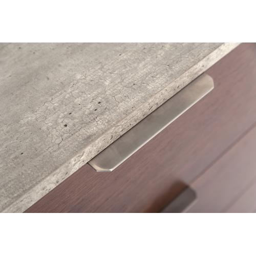 Nova Domus Conner Modern Dark Walnut & Faux Concrete Dresser