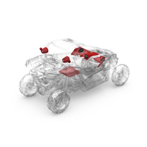 Rockford Fosgate - 400 watt stereo, front speaker, subwoofer, & rear speaker kit for 2017+ Maverick X3 models