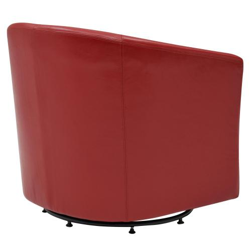 Product Image - Hayden SWIVEL Bonded Leather Accent Arm Chair, Red