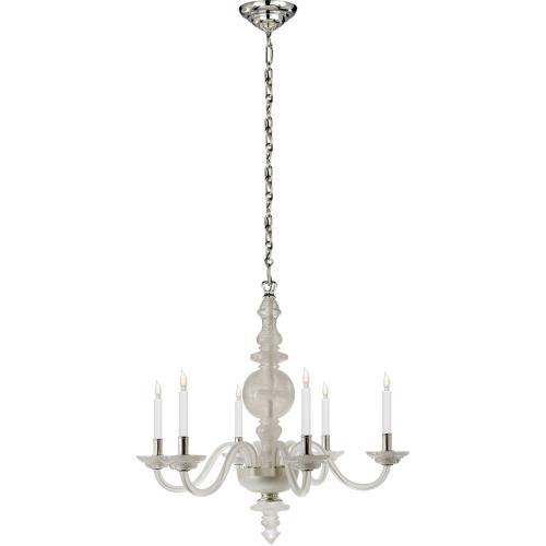 Visual Comfort CHC1154Q E. F. Chapman George Ii 6 Light 30 inch Natural Quartz Stone Chandelier Ceiling Light