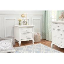 Mirabelle Nightstand in Warm White