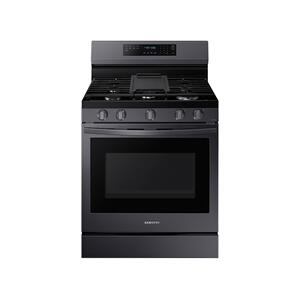 6.0 cu. ft. Smart Freestanding Gas Range with No-Preheat Air Fry and Convection+ in Black Stainless Steel Product Image