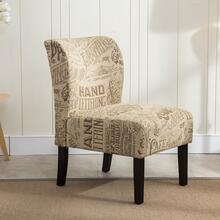Capa Chalkboard Light Print Fabric Armless Contemporary Dining Chair