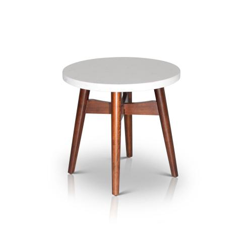Serena Silverstone Round End Table