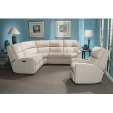California Leather Reclining Sectional