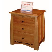 3 Drawer Night Stand - 26W x 21D x 30H with Pull-Out Tray