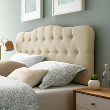 See Details - Annabel Queen Upholstered Fabric Headboard in Beige