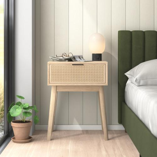 Accentrics Home - Light Brown Cane Nightstand