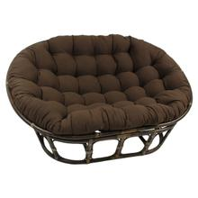 Bali Mamasan Rattan Double Papasan Chair with Twill Cushion - Walnut/Chocolate