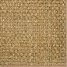 See Details - Basketweave Seagrass 12'x15' / Leather Border