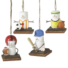 S'mores Team Sport Ornaments (4 asstd)
