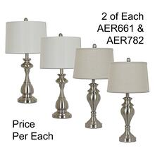 "28""TH METAL TABLE LAMP, 4PCS ASSORTED PACK, 3.35'"