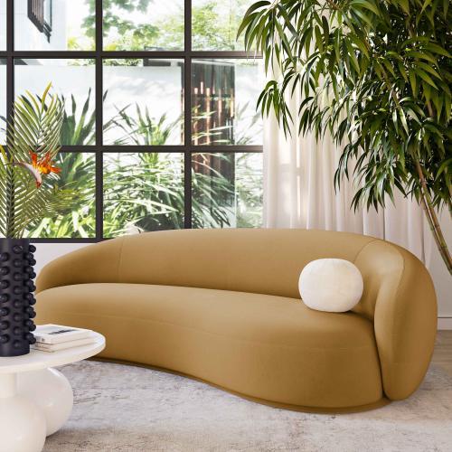 Tov Furniture - Kendall Cognac Velvet Sofa