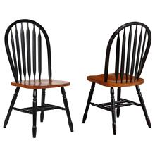 DLU-820-BCH-2  Arrowback Dining Chair  Antique Black and Cherry