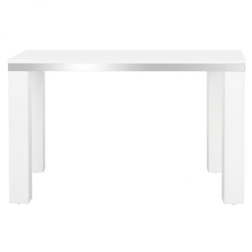 Enos Modern Lacquer Desk - White / Chrome