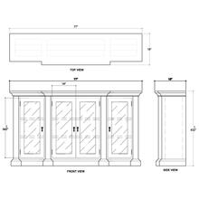 Roosevelt 4 Door MIrrored Sideboard