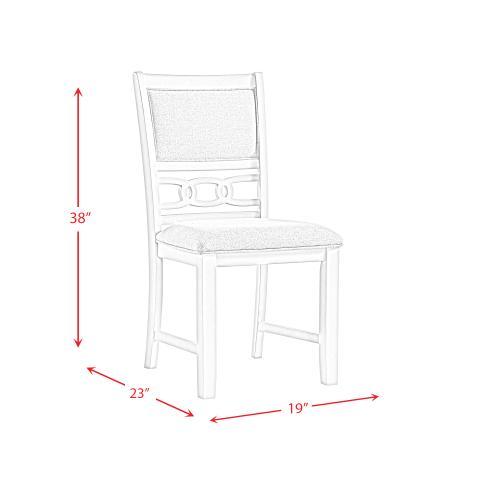 Amherst Standard Height Side Chair Set in Walnut