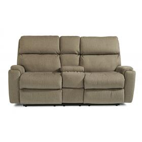 Rio Power Reclining Loveseat with Console