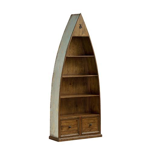 Gallery - Tuscan Retreat® Boat Bookcase - Sea Blue
