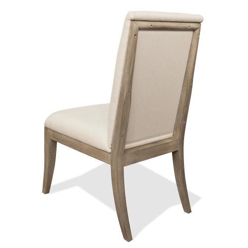 Riverside - Sophie - Upholstered Side Chair - Natural Finish